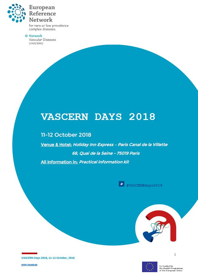 VASCERN DAYS 2018 is almost here!