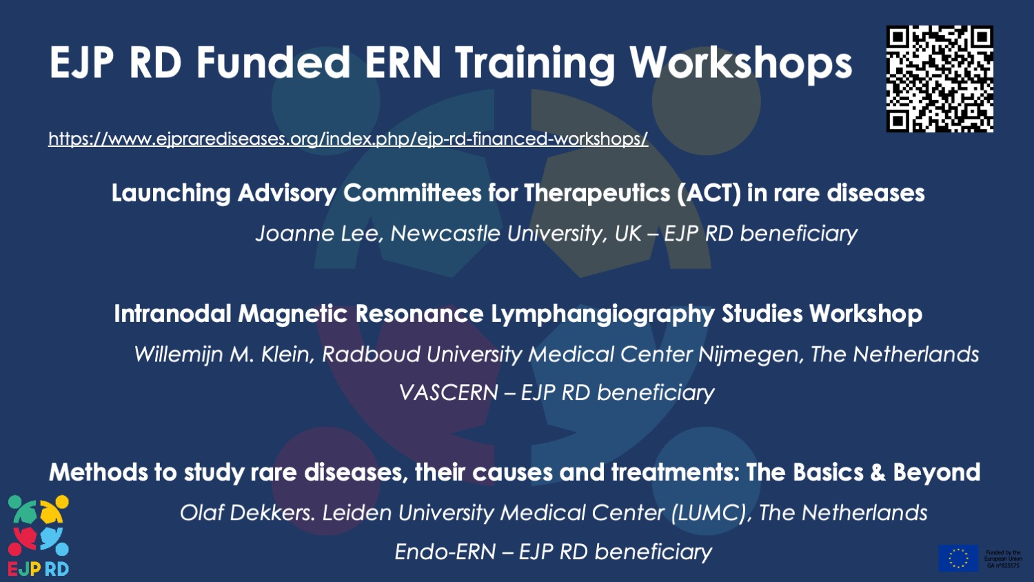 VASCERN member's proposal selected for funding in first EJP RD Research Training Workshop Call!