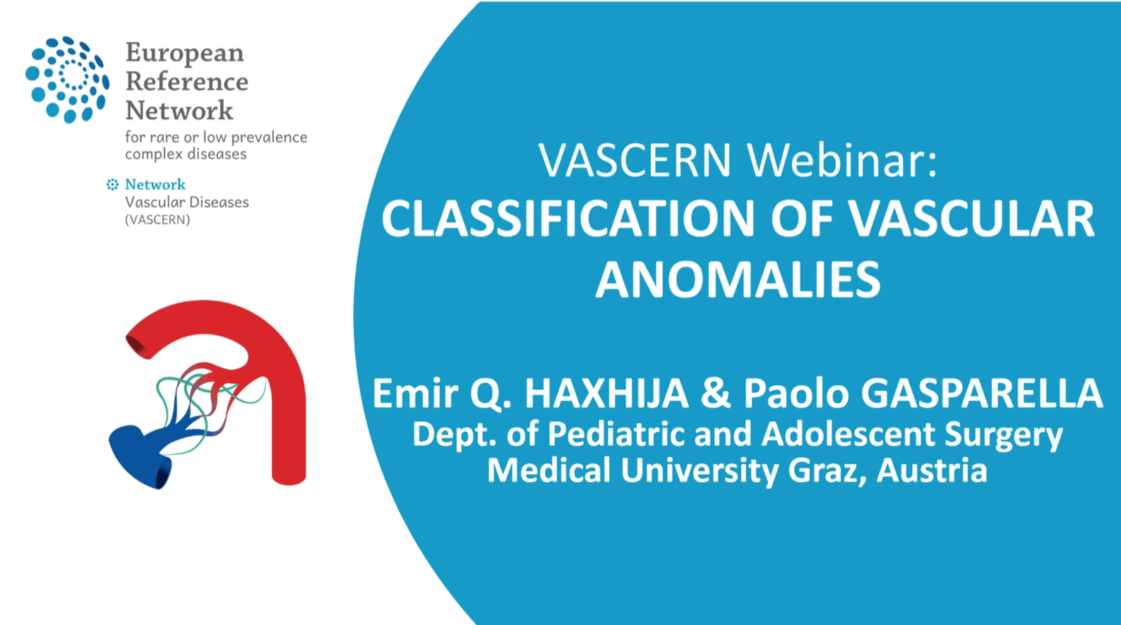 Recording of the VASCERN webinar: Classification of vascular anomalies now available!