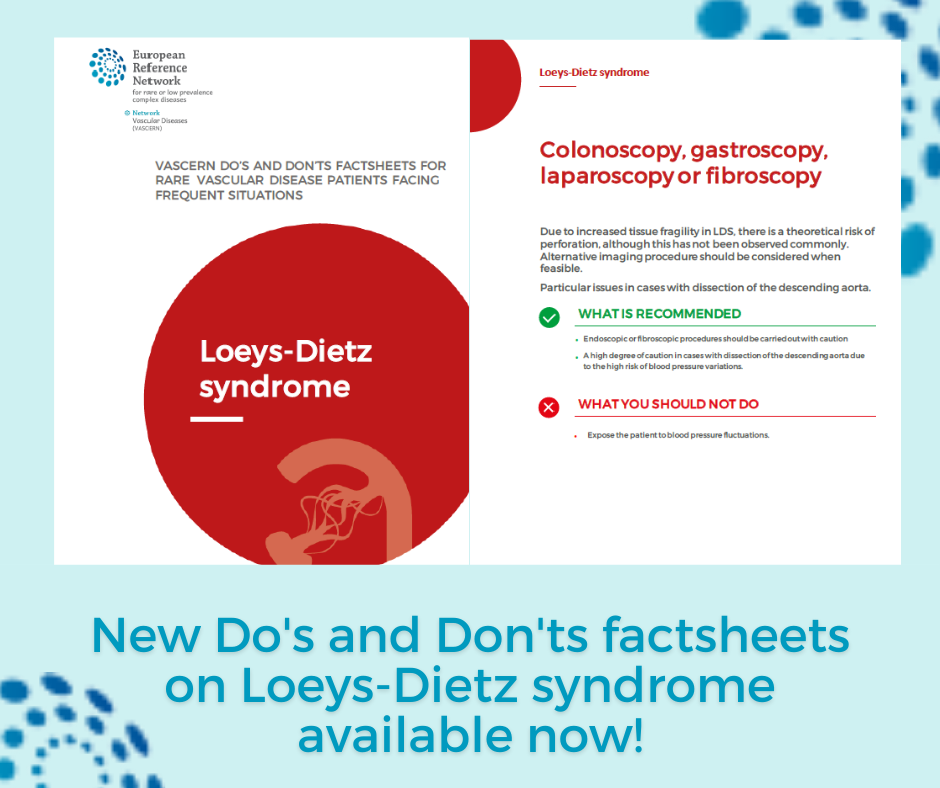New Do's and Don'ts factsheets on Loeys-Dietz syndrome available!